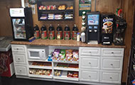 Inside of store coffee counter